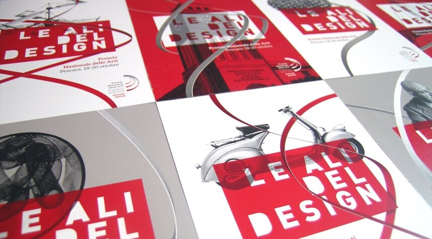 Postcards from the branding of Le ali del design