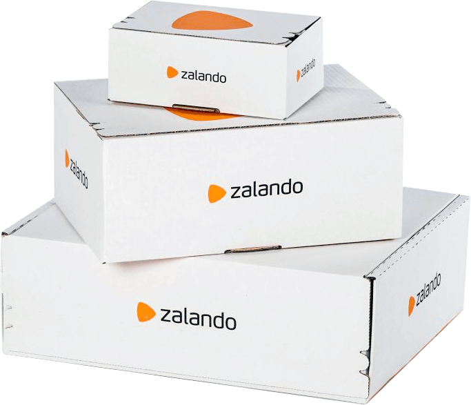Shipping boxes from Zalando